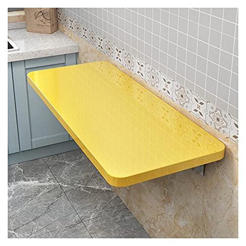 GHHZZQ Escritorio Montado En La Pared Heavy Duty Mesa Plegable Mesa De Cocina Flotante Ahorro De Espacio Escritorio De Computadora por Uso Doméstico Oficina (Color : Yellow, Size : 50x30cm)