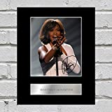 Whitney Houston Photo dédicacée encadrée