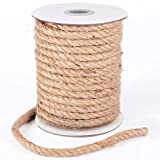 HOMYHOME Cuerda cáñamo 10mm Natural Rollo de Cordel Yute para Cord Craft Industrial Embalaje artesanía decoración confección jardinería hogar 98.5ft
