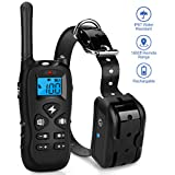 Mothca Dog Training Collar with Remote Waterproof Rechargeable with Beep/Vibration/Electric Shock Modes for Small Medium Large Dogs-No Problem with Swimming/Shower