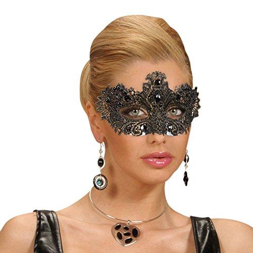 Amakando Gothic Maske - Gold - Venedigmaske Halbmaske Karneval Ballmaske Damen Venedig Masken für Maskenball Edle venezianische Augenmaske