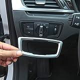 YIWANG Couvercle de bouton pour interrupteur de phare intérieur en ABS chromé pour X1 F48 2016-2019, pour X2 F47 2018 2019 Accessoires automobiles