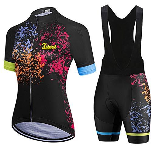 WPW Maillot de Ciclismo y Culotte con Tirantes, Shorts de Ciclismo para...