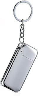 Keychain with Lighter, USB Rechargeable Electric Cigarette Cigar Lighter with Keychain Pendant Flameless Windproof