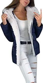 SHUSUEN Women's Winter Mid Length Warm Outerwear Faux Thick Wool Lined Jacket Coat Zipper Jacket