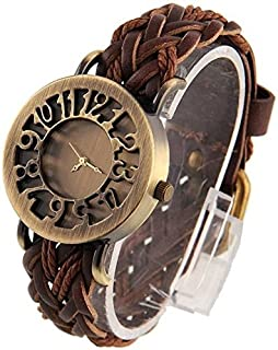 New Raiyaraj Embroidery Women's Analogue Brown Dial Leather Belt Watch