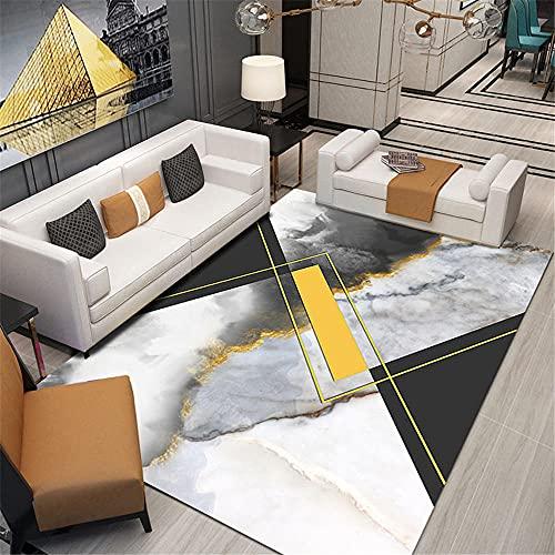 Alfombras alfombras Salon Alfombra de Tinta Negra Crema Amarilla Fácil de Limpiar y Duradero Decoracion habitacion niño alfonbras de dormitorios 60*160cm