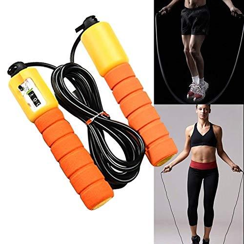 MYHH Jump Seile mit Zähler Sport Fitness Einstellbare Fast Speed Zählen Jump Rope Skipping überspringen Draht (Grün). (Color : Orange)