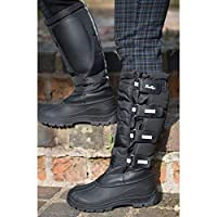 Very robust and hardwearing, Hi Viz reflectors on straps and down the back for extra visibility. Highly waterproof, non slip sole mucker boots. Adjustable Velcro strap fastenings and an easy to clean outer shell. Extra grip non-slip sole specially de...