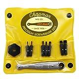 Chapman MFG 2307 Allen Hex Screwdriver Bit Set - 10 Pieces - Includes USA Made Spinner & Mini Ratchet Hand Tools, Soft Vinyl Case, Pocket Size Pack