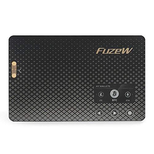 FuzeW, kabellose Bitcoin-Hardware-Geldbörse – unterstützt mehrere Kryptowährungen (Bitcoin, Ethereum, Dash Coin, Litecoin, Ripple, Bitcoin Cash, Doge Coin u.v.m.) - FuzeW, keine Fuze Karte