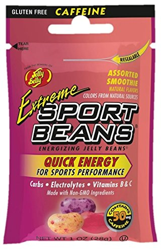 Jelly Belly Extreme Sport Beans, Caffeinated Jelly Beans, Smoothie Flavor, 24 Pack, 1-oz Each