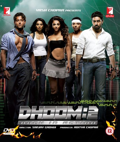Dhoom 2 Back In Action Bollywood DVD With English Subtitles