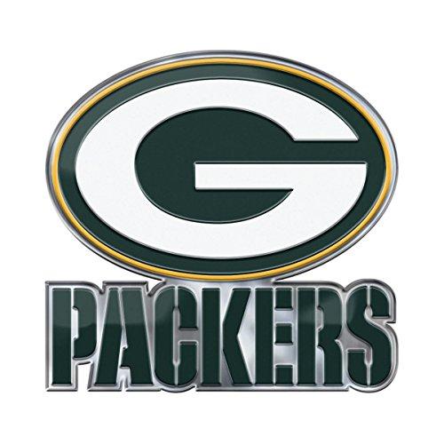 Team ProMark NFL Green Bay Packers Alternative Color Logo Emblem, 4 (60599)