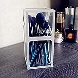 Generic Lagerregal, Glas, Kosmetik-Aufbewahrungsbox, Staubschutzhülle, Lippenstifteimer, Acryl-Kommode, Desktop-Finish-Weiß