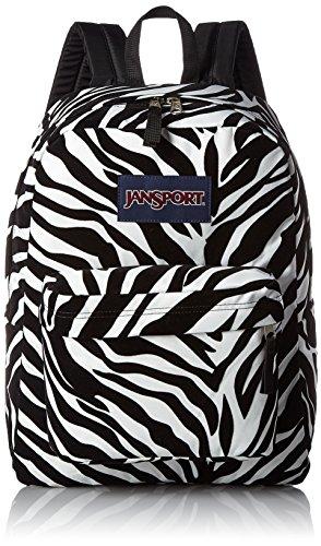 JANSPORT High Stakes Backpack Black Miss Zebra Flock