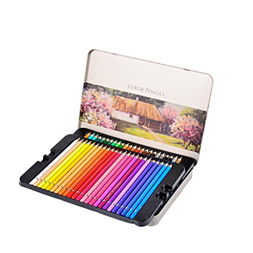 YONGJUN 72 Kleur Vette Tin Boxed Gekleurde Potlood Student Art Tekenen Kleurplaten Kinderen Kleur Potlood