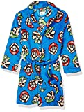 Super Mario Brothers Boys' Little Nintendo Luxe Plush Robe, Game face Brothers, 4