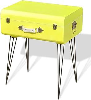 vidaXL Mueble Mesa Auxiliar Vintage de Color Amarillo
