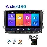 Android 9.0 Autoradio GPS pour VW CAMECHO Écran Tactile 9 Pouces Support SIM Miroir Lien Bluetooth FM AM RDS Radio pour VW Passat Golf Jetta T5 EOS Polo Siège Touran Sharan