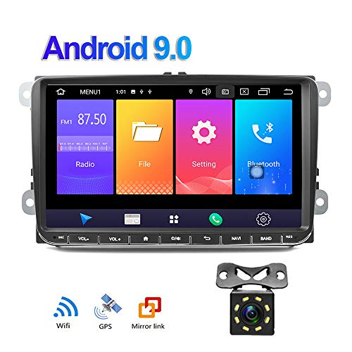 puissant Écran tactile 9 pouces VW CAMECHO pour prise en charge de la carte SIM Autoradio Android 9.0 Lien miroir GPS…