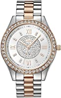 JBW Mondrian 16 Diamonds & Swarovski Crystal Encrusted, Bezel Watch For Women