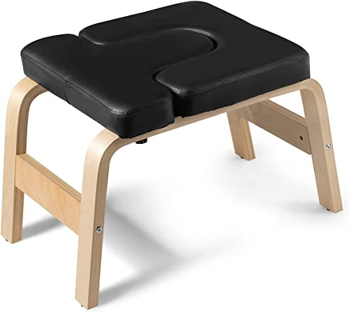 wholesale Giantex Yoga Headstand Bench w/VC Pads, Yoga Inversion Chair, Sturdy Wood Frame, Yoga Inversion Trainer, Relieve Fatigue and Shape discount Body, Idea for Workout, Fitness and online sale Gym outlet sale