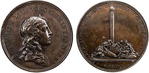 1655 FR 1655 France Medal Louis XIV Taking of Landrecies medal MS 63 NGC