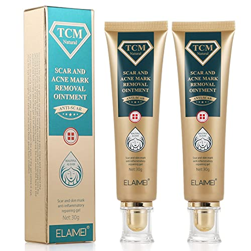2 Pack TCM Scar Removal Gel and Acne Mark Removal Cream Ointment, Acne Scar Removal Cream Skin Repair Acne Spots Remover Blackhead Stretch Marks