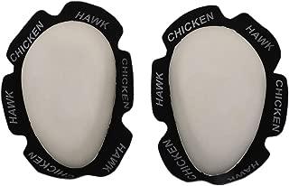 Chicken Hawk Racing Knee Sliders - Hard - White KS09-WHT