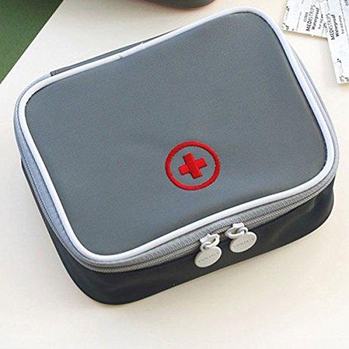 Tutoy Medicijntas, reis-EHBO-tas voor noodgevallen, buiten, camping, jacht, pille, opbergtas, survival kit, kleur gery