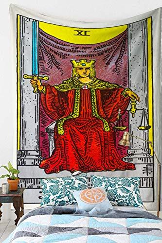 Tapiz para colgar en la pared de la astrología de adivinación, colcha, tapete de playa, tapiz psicodélico, para colgar en la pared, 198 x 149 cm