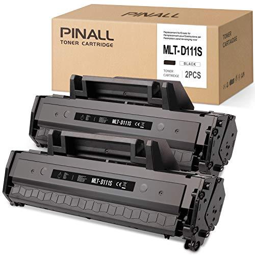 PINALL - Toner compatibile Samsung MLT-D111S per Samsung Xpress M2020, M2020W, M2021W, M2022, M2022W, M2026, M2026W, M2070, M2070F, M2070FW, M2070W, M2078W, 2 pezzi, colore: nero