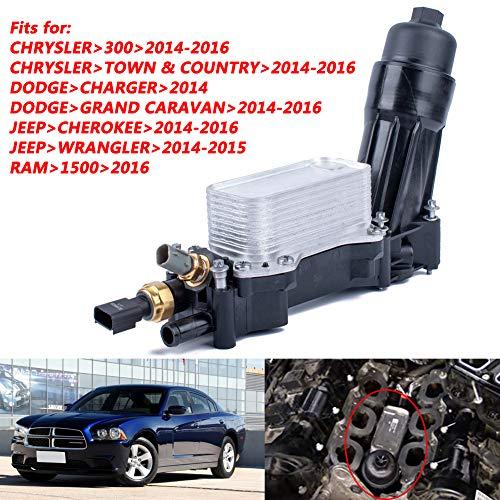 DishyKooker - Adaptador para carcasas de filtro de aceite Je-ep Do-dge Chrysler RAM 3.6 V6 (OE: 68105583AF)