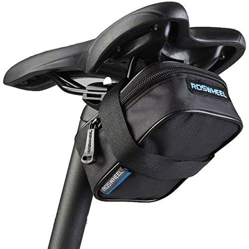 ROSWHEEL–Bolsa sillín Bolsa resistente al agua bolsa de herramientas Negro