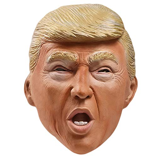 Poem Mscara de Disfraz de ltex para Adultos de Donald Trump, mscara de Candidato Presidencial Republicano, Celebridad Realista, Disfraz de Halloween, Disfraz de Fiesta de Cosplay