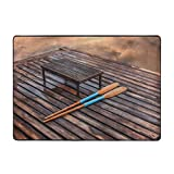 Collection Area - Alfombra para decoración del hogar, remo y palas en un antiguo muelle de madera, 6 pies x 9 pies