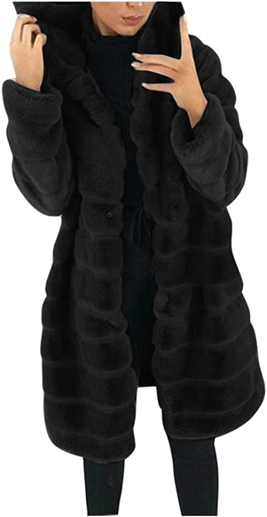 SERYU Womens Faux-Fur' Gilet Long Sleeve Waistcoat Body Warmer Jacket Coat Outwear