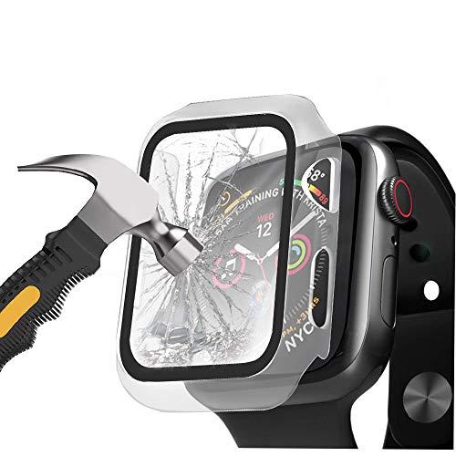 [2 Pack] Henstar Apple Watch 44mm Series 6/5/4/SE Funda + Cristal Templado,...