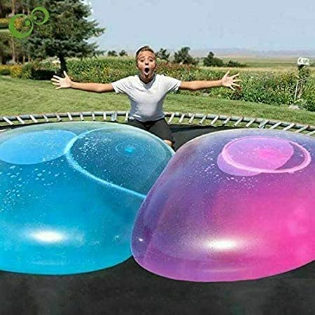 Ginkago Bubble Ball Toy for Adults Kids Giant Inflatable Water Ball Beach Garden Ball Soft Rubber Ball Outdoor Party (Blue-XXXLarge)