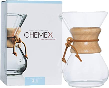 Chemex Classic Series, Pour-over Glass Coffeemaker, 6-Cup - Exclusive Packaging - CM-6A