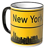 WANDKINGS® Tasse, Skyline New York - SCHWARZ