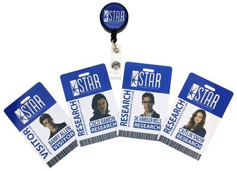 Factory Entertainment DC Comics The Flash, S.T.A.R. Labs Retractable ID Badge Set