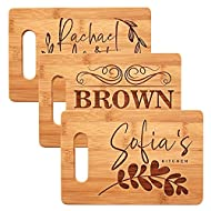 Personalized Cutting Board, 11 Designs, 9x6, Bamboo Cutting Board - Wedding Gifts for the Couples, Housewarming Gifts, Anniversary Gift for Her, Gift for Parents and Grandma, Engraved Kitchen Sign
