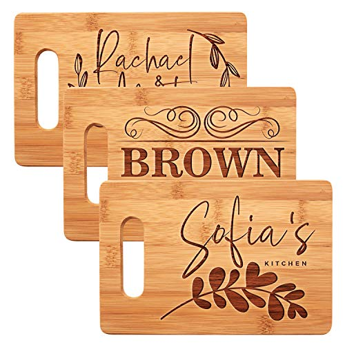 Personalized Cutting Board, 11 Designs, 9x6, Bamboo Cutting Board - Wedding Gifts for the Couples,...