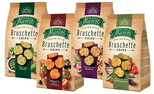 Bruschettes Maretti (Ail rôti lentement, Méditerranée, Basilic doux, Tomate, Olives et origan), 4x150 g