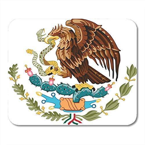 N\A Alfombrillas de ratón Serpiente méxico méxico águila de Armas Bandera américa Alfombrilla de ratón para portátiles, Computadoras de Escritorio Alfombrillas de ratón
