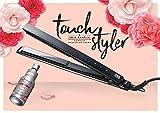 Jean Louis David Touch Styler - Lisseur de Cheveux Professionnel avec Écran Tactile, Revêtement Céramique, pour tous Types de Cheveux, 2 en 1 Lisse et Ondulé, Température 130° à 230° - Noir
