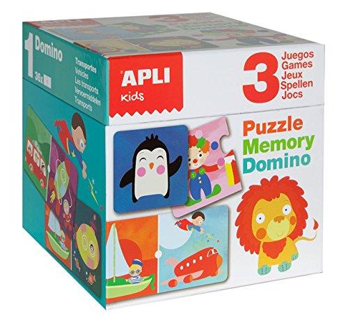 APLI Kids - Cubo puzle, memory y dominó , color/modelo surtido
