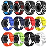 Galaxy Watch 46mm Bands - Gear S3 Bands, 22mm Universal Soft Silicone Replacement Breathable Business Sport Bands for Samsung Galaxy Watch 46mm/Gear S3 Frontier/Classic Smart Watch(12 Pack B)